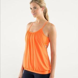 Lululemon Orange No Limits Tank Size 2